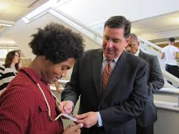 peduto damn proud of teens in summer learn and earn program pittsburgh or bill peduto checks out 16 year old raynard lucas s necklace tuesday morning at the community college of allegheny county