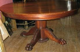 oak dining table makeover claw feet round with foot antique