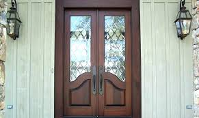 stained glass entry doors exterior french leaded front decoration with exte