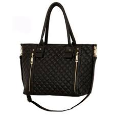 details about womens las quilted style pu faux leather handbag hand bag cross black uk