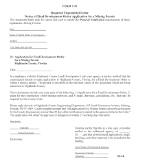 notice to owner form florida form form m required transmittal letter notice of final development