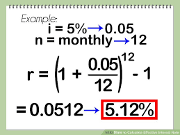 Loan Interest Calculator Amazing How To Calculate Effective Interest Rate 44 Steps With Pictures