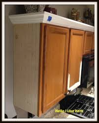 Kitchen Crown Moulding Kitchen Cabinet Makeover Install Crown Molding Helloi Live Here