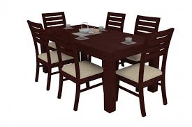 alana gany dining table set 6 seater teak wood