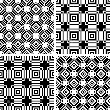 Abstract Art Black And White Patterns Seamless Black And White Patterns Set Abstract Geometric Textures