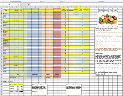 diet excel sheet diet and exercise plan spreadsheet diet plan