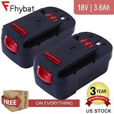 <b>2X 3600mAh</b> 18v HPB18 for Black and Decker <b>Battery</b> HPB18-OPE ...