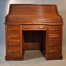 antique roll top writing bureau desk oak edwardian globe wernicke rolltop c1910 237438 ingantiques co uk