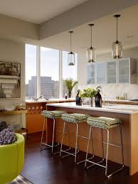 amazing unique kitchen island lighting with frameless frosted glass cabinet  doors also modern stainless steel backless