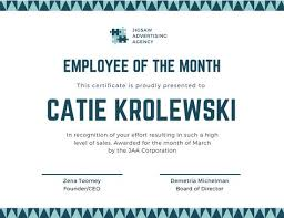Employee Certificate Of Appreciation Employee Of The Year Award Certificate Templates By Canva