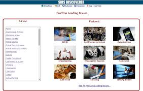 share this acirc pro con pro con leading issues in proquest sirs discoverer