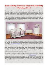 turn to baby furniture s for your