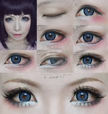 pin drawn doll style makeup 1