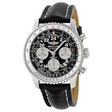 breitling navitimer cosmonaute black dial leather strap automatic men s watch ab021012 bb59bklt item no ab021012 bb59bklt