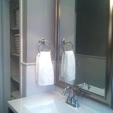 brushed nickel mirror. Brushed Nickel Framed Mirror Home Depot Bathroom Faucets Above Sink Under Stainless Steel