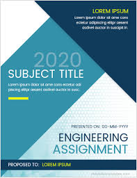 Engineering Assignment Cover Page Templates Ms Word Cover