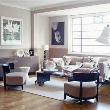 modern neutral living room painted dado rail