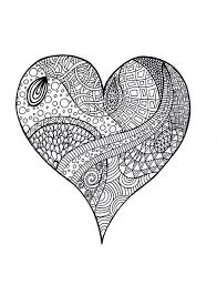 Small Picture Difficult Coloring Pages Of Hearts For Teenagers Color Bros