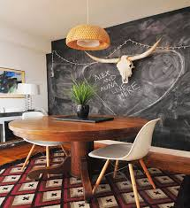 alluring chalk wall decorations for your home note large round wooden dining table with chalkboard