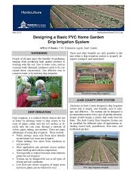 Drip Irrigation System Design And Installation Designing A Basic Pvc Home Garden Drip Irrigation System By