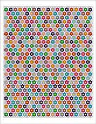 English Paper Piecing Single Ring Hexagon Quilt Pattern from ... & English Paper Piecing Single Ring Hexagon Quilt Pattern Adamdwight.com