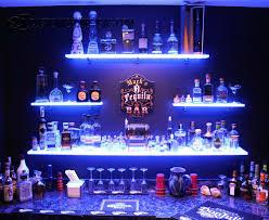 Led Floating Glass Shelves Man Cave w LED Shelves Home bars Pinterest Men cave Cave 52