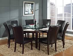 stunning dining room furniture granite double pedestal counter extendable 6 seater round table dark brown wood