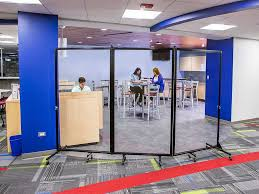 division with vision with clear acrylic panels