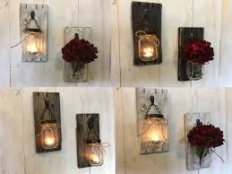 Mason jar wall sconces, Mason jar sconces, Wall sconces, Rustic wall sconces,  Candle wall sconces, Wood sconces, Sconces lighting