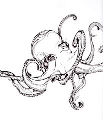 Small Picture Tumblr illustration minimal sketch drawing pen octopus