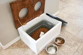 dog food stand with storage