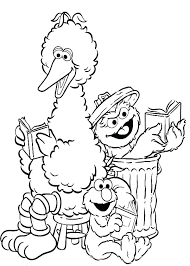 Sesame Street Characters Coloring Pages Sesame Street Pictures To