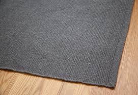solid grey hand woven washable flatweave eco cotton rug 2 x 3