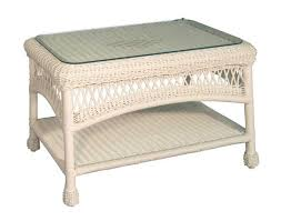 wicker coffee table image ashley home decor white