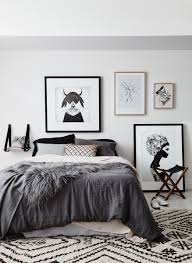 Nordic Bedroom Monochrome Bedroom Artwork Ruben Ireland Kreativitum Kristina