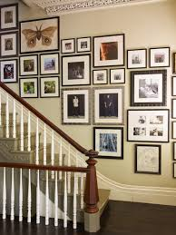 ... Variety Of Ways To Arranging Photos On A Wall : Traditional Staircase  Picture Idea For Hall ...