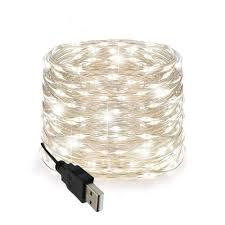 Wire Lights Bedroom Amazon Com Led String Lights 100 Leds Decorative Usb