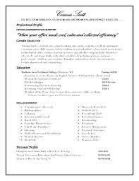 Resume Profile Samples Sample Resume Objectives Best Template
