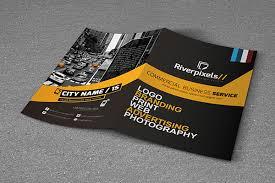 2 Folded Brochure Template Modern A4 Bi Fold Brochure Template On Behance