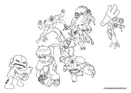 Free Printable Ben 10 Coloring Pages