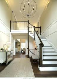 2 story foyer chandelier way size how high to hang in