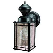 heath zenith shaker cove mission 150 degree black motion sensing outdoor lantern