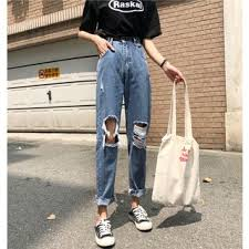 Yesstyle Shoe Size Chart Distressed Straight Cut Jeans