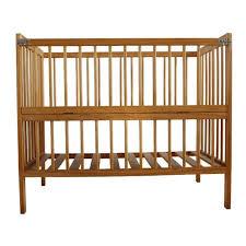 wooden lock baby bed