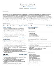 Retail CV example