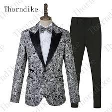 New Suit Design 2019 Man 2019 Thorndike 2019 New Men Suit Latest Design Tuxedo Slim Silver Floral For Wedding Dress Suits Blazer Pant New Style Jacquard Suits From Zhinvstar
