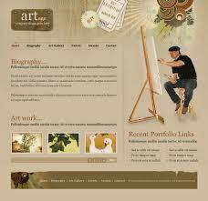 Artist Website Templates Extraordinary Fashion Art Web Template 28 Art Photography Website
