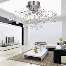 loco modern crystal chandelier with 11 lights chrom flush mount chandeliers modern ceiling light fixture for hallway entry bedroom living room with