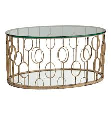 ... Coffee Table, Wonderful Clear Oval Modern Gold Metal Coffee Table  Ideas: Awesome Gold Metal ...