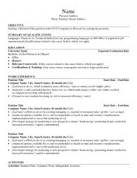 Resume Examples  Career Objectives Education Background Relevant Coursework  Professional Experience Additional And Technical Skills Recognition SP ZOZ   ukowo